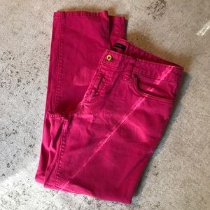 Land's End Pink Denim Crops
